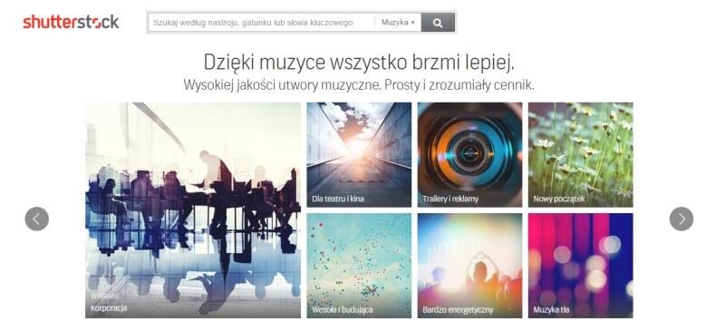 Sprzedawanie utworów muzycznych za pośrednictwem serwisu Shutterstock