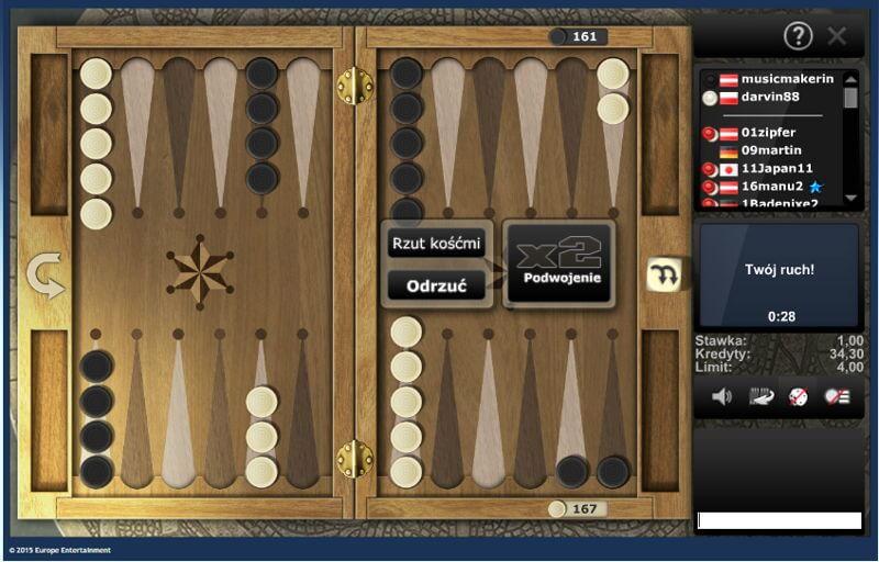 Gra w Backgammona na Skill7